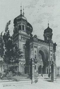 Die Synagoge in Kaiserslautern 1890.